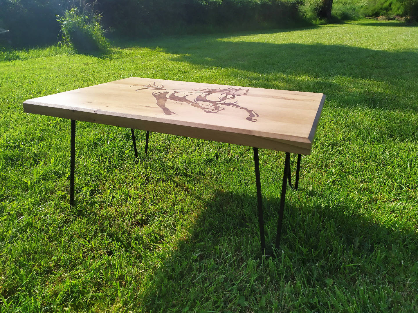 Table basse gravure cheval (4)
